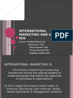 International marketing and strategy mix