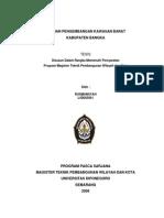 Arahan Pengembangan Kawasan Barat Kab Bangka(Tesis)