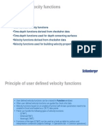 Velocity Functions