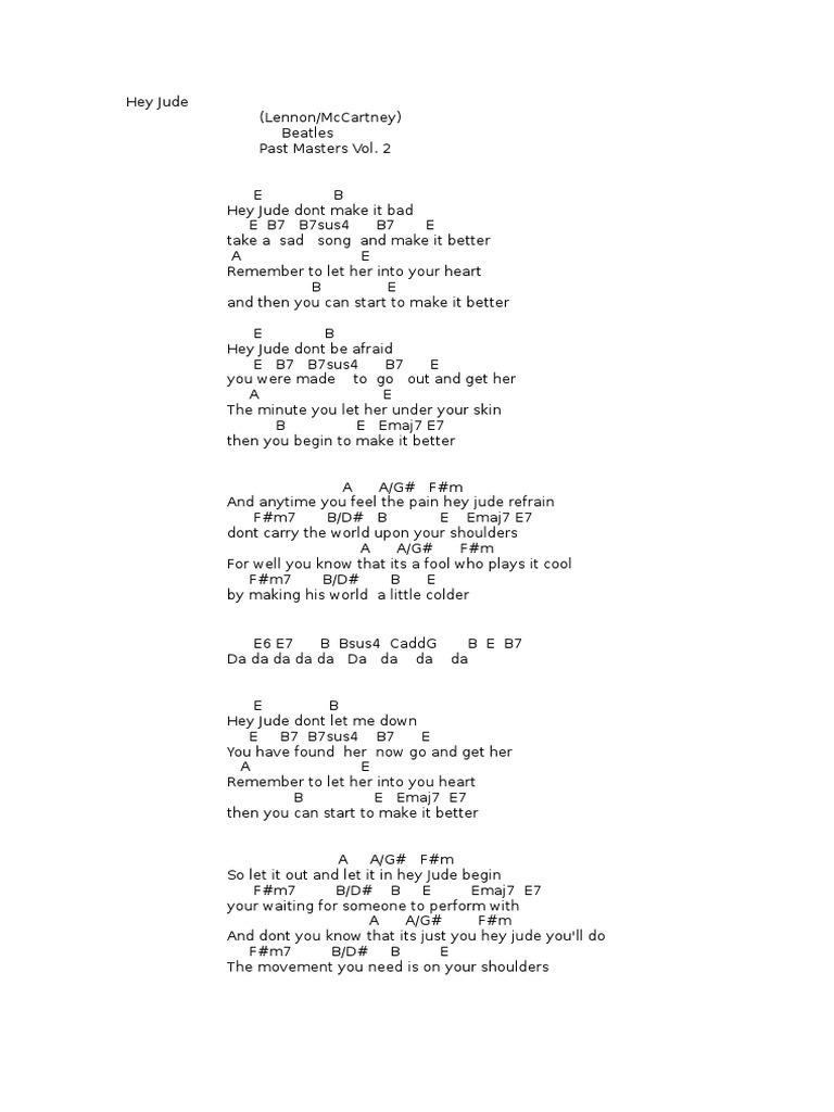Guitar Song Learn Lyrics Songs Paul Mc Cartney