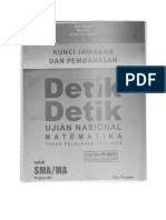 Kunci Jawaban Detik Detik Matematika SMA (IPA) 2015