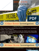 IMPORTANCE OF CRIME SCENE