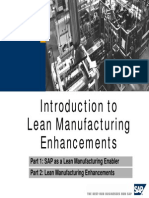 Introduction to Lean Manufacturing SAP