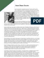 Juan Duns Escoto doctrina / pensamiento filosófico