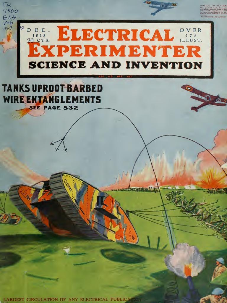 Electrical Experimenter Vol 68 Torpedo Welding 50 Rv Plug Wiring Diagram Cheater 220v Horn Relay