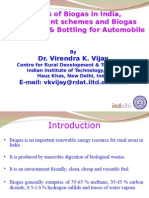 Biogas Status-Schemes-Enrichment and Bottling