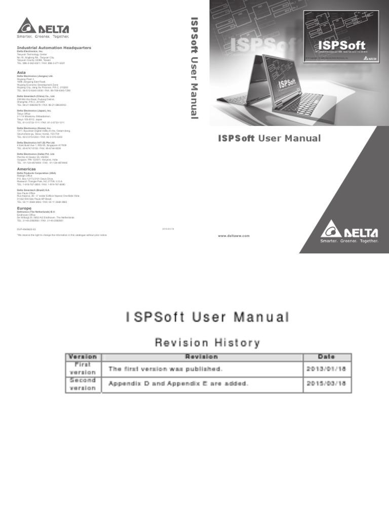 Delta Ia-plc Ispsoft Um en 20150318 | Programmable Logic Controller