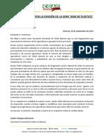 Carta de COAG a Atresmedia por la emisión de la serie 'Mar de Plástico'