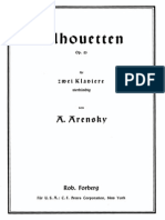 Arensky - Op. 23 Silhouettes for Two Pianos, Piano 1