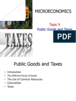 Topic 9 Public Goods and Taxes