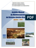 O Boletim de Monitoramento Do Sistema Elétrico Brasileiro
