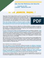 Congrès PRG 2015 - contribution des JRG