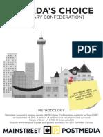 Calgary Confederation Mainstreet poll