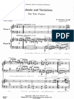 Schumann - Op. 46 Andante and Variations for Two Pianos