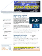 Dream Divers March 2010 Dive Club Newsletter