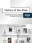 history of the atom - with timeline