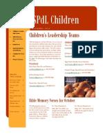 October 2011 SPdL Kids Newsletter