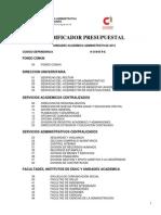 Codificador presupuestal 2014