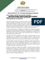 Nota de Prensa 042 - Urgente 10 Árboles Debe Sembrarse Por Personas Contra El Cambio Climático