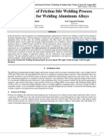 Optimization of Friction Stir Welding Process Parameters for Welding Aluminium Alloys