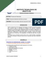 1.1 Proceso Tecnologico Del Hierro de Primera Fusion