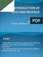 Neha Cost Revenue