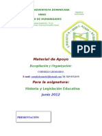 Material Para La Asignatura Historia y Legislacion Educativa