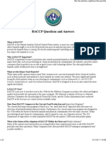 HACCP Questions and Answers