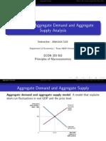 Aggregate Demand Aggregate Supply