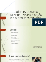 Influência Do Meio Mineral Na Produção de Biossurfactantes