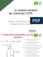 Diseño en Estado Estable de Sistemas CSTR v2
