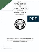 Edvard Grieg Lieder (High)