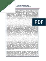 Incidente Critico Dr Urcia