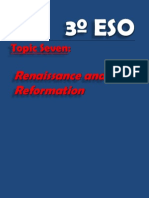 3º ESO.- Topic 7, Renaissance, Reformation and Counter reformation