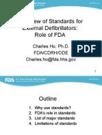Overview of Standards for External Defibrillators