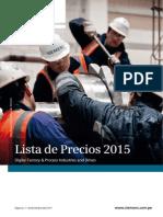 (Catálogo) Lista de Precios 2015 - Siemens