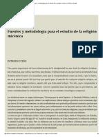 Fuentes y Metodología Para El Estudio de La Religión Micénica _ Histórico Digital