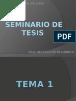 SEMINARIO de TESIS Desarrollo Del Curso