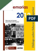 Dialogo Nacional Memorias 2012