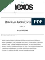 Bandidos, Estado y ciudadanía. Joaquín Villalobos