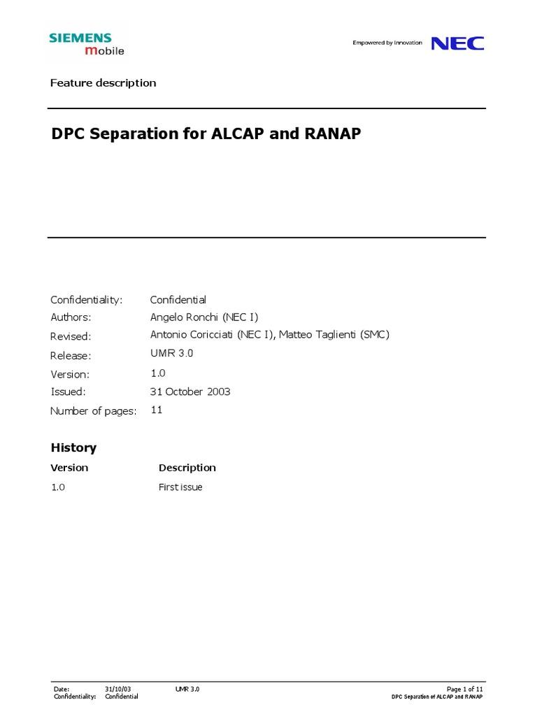 ALCAP and RANAP separation | Asynchronous Transfer Mode | Internet Protocols