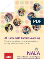 At Home With Family Learning - Fun and Useful Ways to Improve Reading, Writing and Maths Skills for All