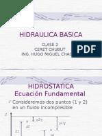 Hidraulica Basica, Clase 2