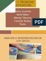 Análisis, Presentación E Interpretación de Los Datos