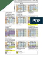 Calendário 2015 SJC Esplanada Satélite