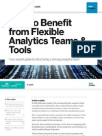 How to Benefit from Flexible Analytics Teams & Tools