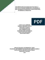 Pautas Para El Diseño y Creación de Una Base de Datos Para El Grupo Piga
