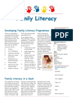 Developing Family Literacy Programemes - Some Useful Tips