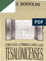 Bortolini, Jose - Como Leer La Carta 1 a Los Tesalonicenses