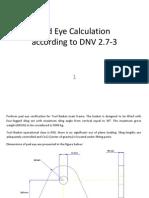 Pad Eye Calculation DNV 2-7.3.